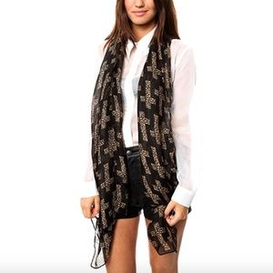 4/$30 Cheetah Leopard Cross Semi Sheer Woven Scarf